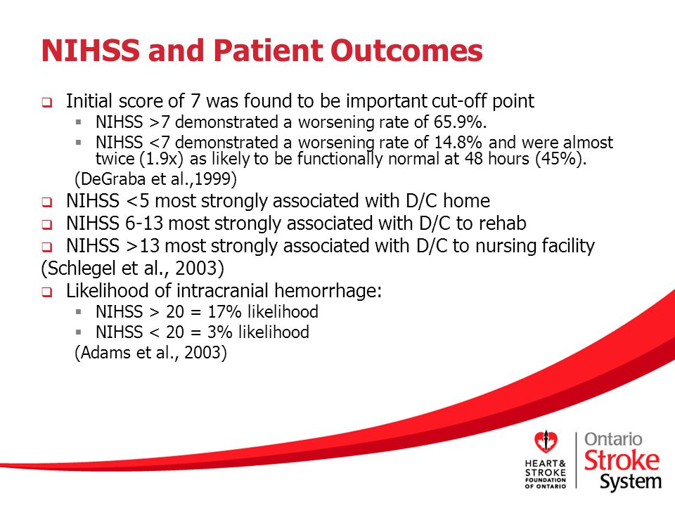 NIHSS and Patient Outcomes