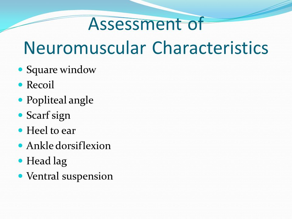 Assessment of Neuromuscular Characteristics