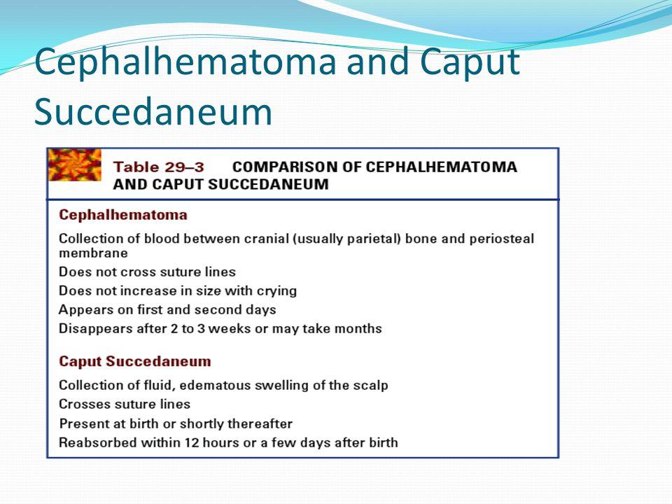 Cephalhematoma and Caput Succedaneum