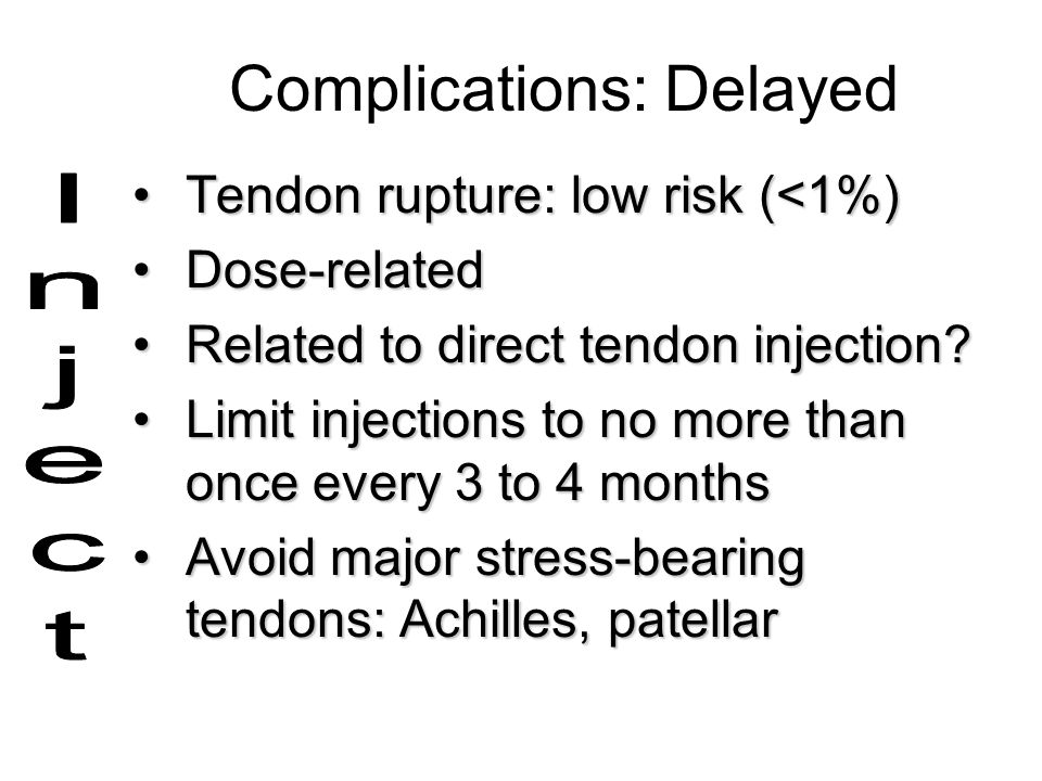 Complications: Delayed