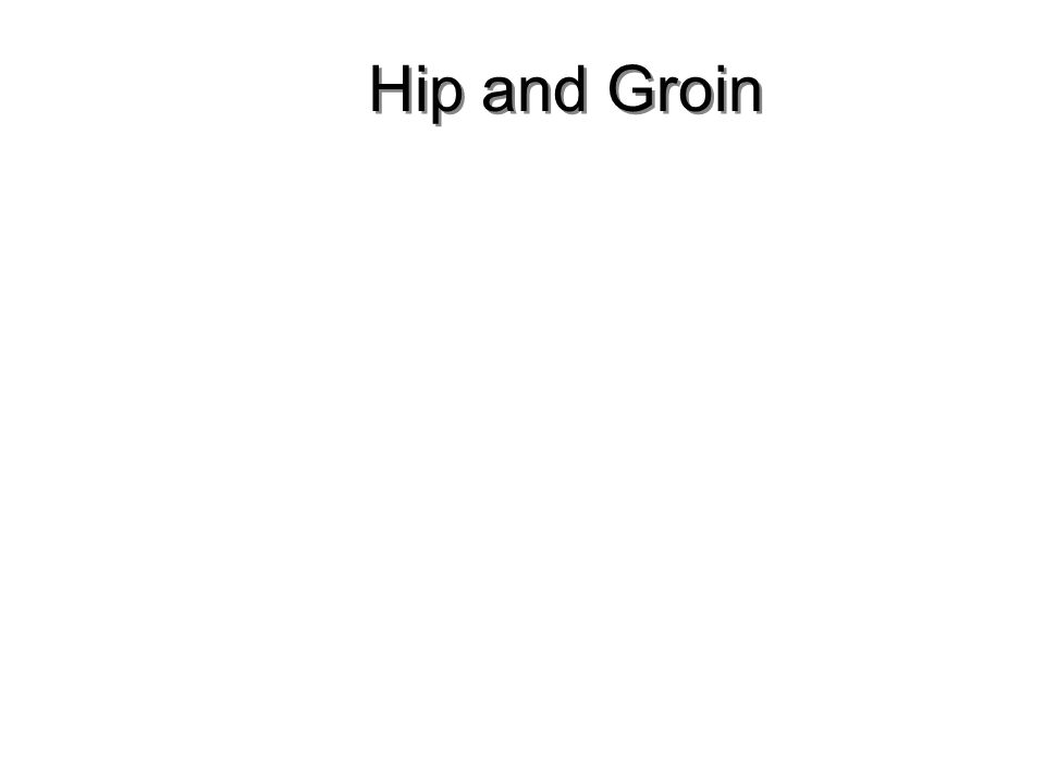 Hip and Groin