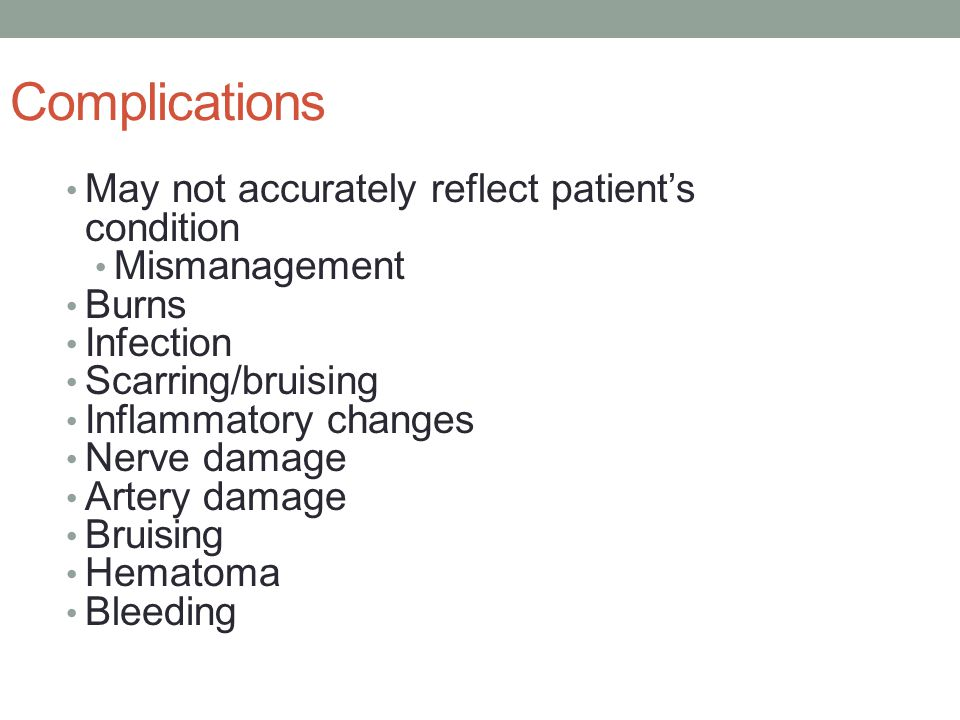 Complications May not accurately reflect patient's condition