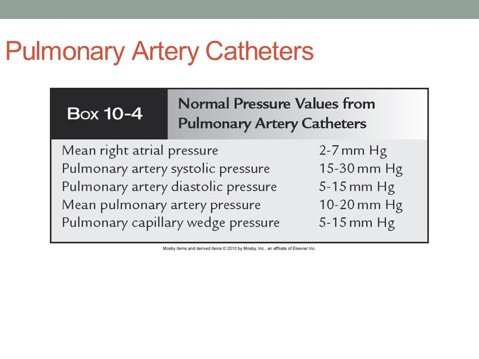 Pulmonary Artery Catheters