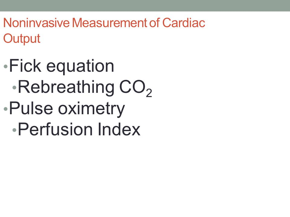 Noninvasive Measurement of Cardiac Output