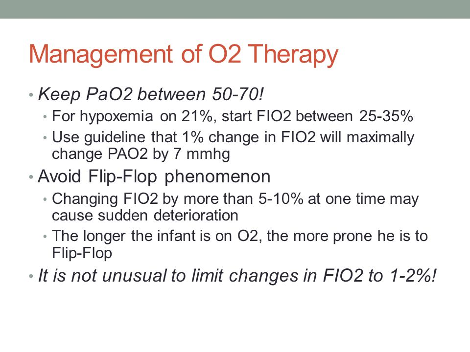 Management of O2 Therapy