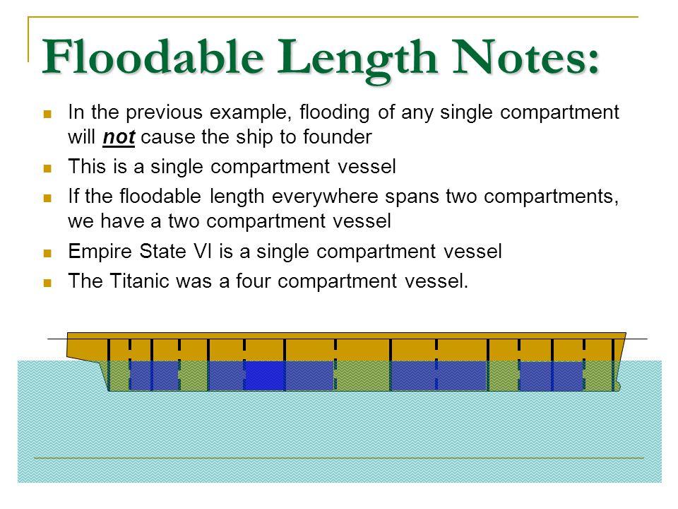 Floodable Length Notes: