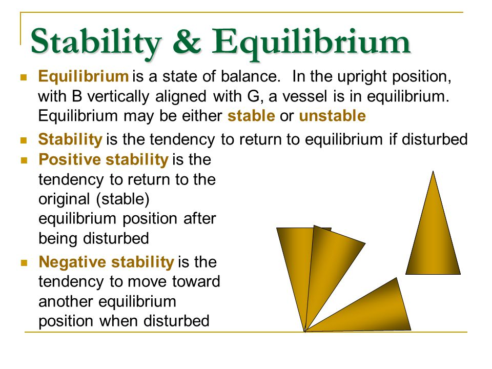 Stability & Equilibrium