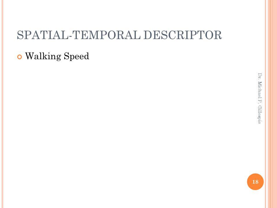 SPATIAL-TEMPORAL DESCRIPTOR