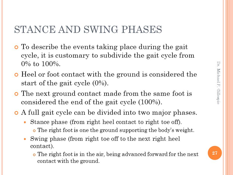 STANCE AND SWING PHASES