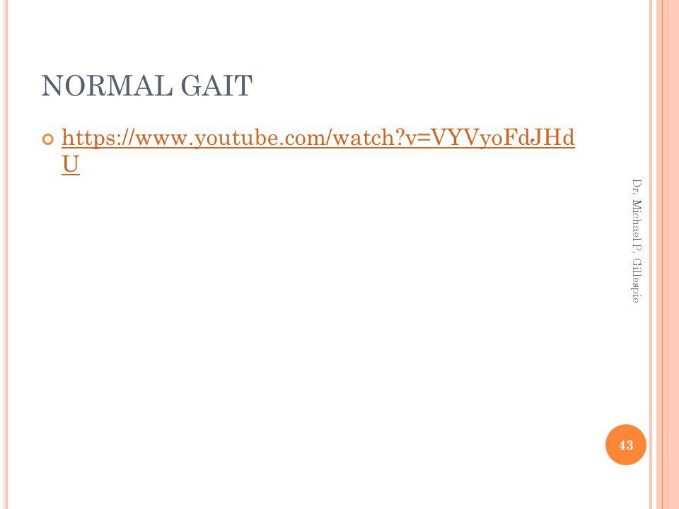 NORMAL GAIT https://www.youtube.com/watch v=VYVyoFdJHd U