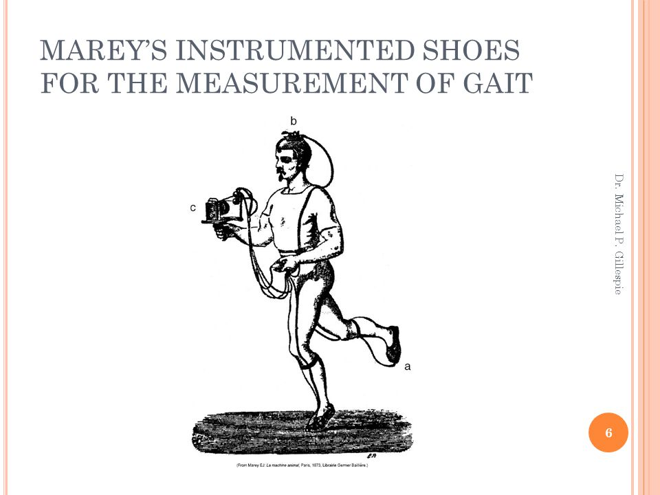 MAREY'S INSTRUMENTED SHOES FOR THE MEASUREMENT OF GAIT