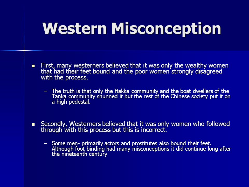 Western Misconception