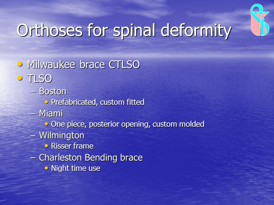 Orthoses for spinal deformity