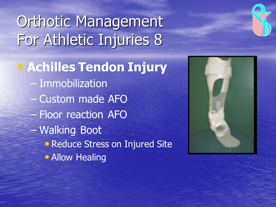 Orthotic Management For Athletic Injuries 8