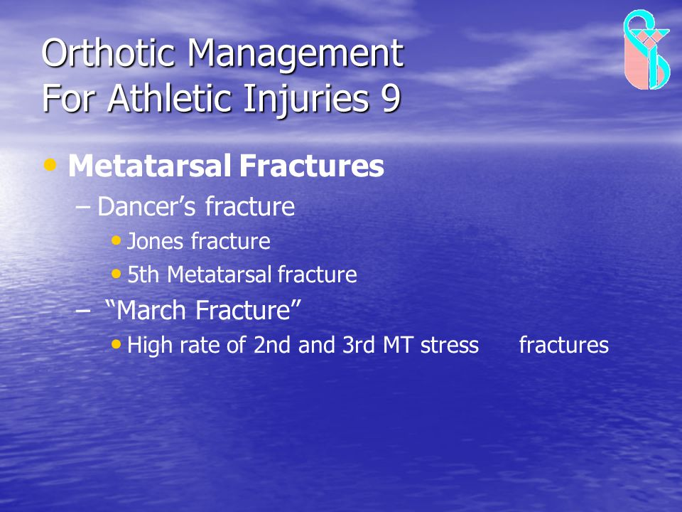 Orthotic Management For Athletic Injuries 9