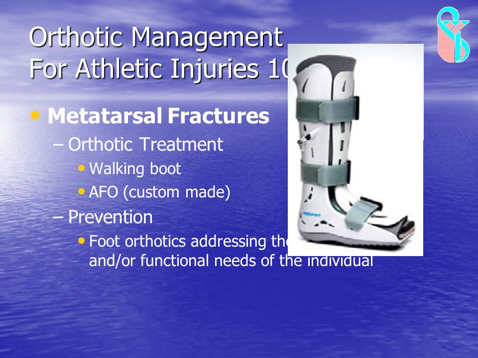 Orthotic Management For Athletic Injuries 10