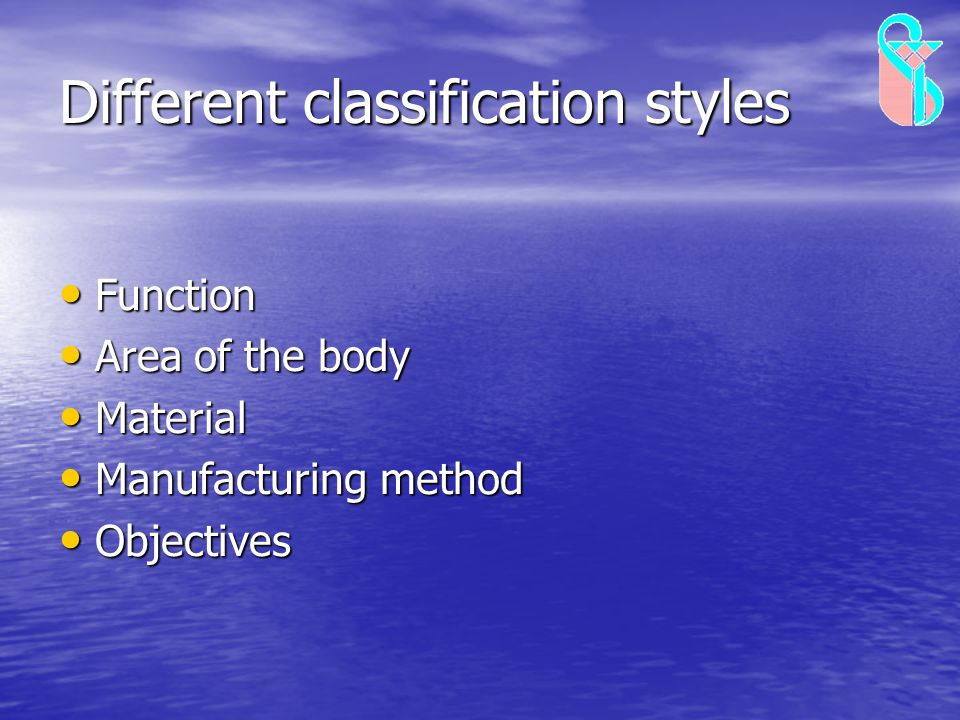 Different classification styles