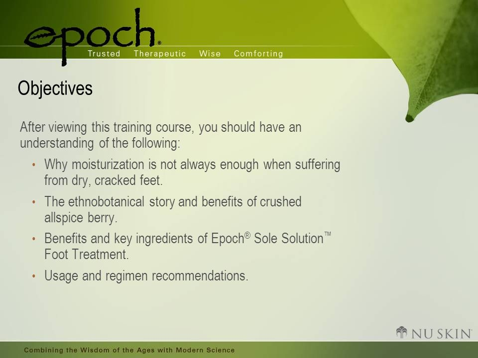 Objectives After viewing this training course, you should have an understanding of the following: