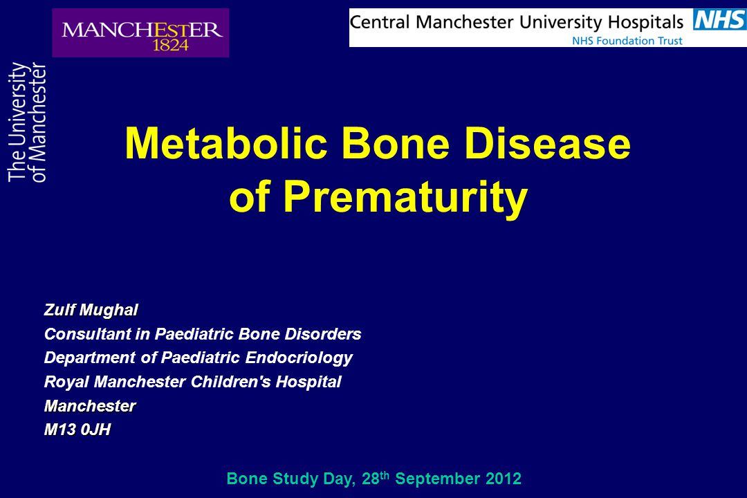 Metabolic Bone Disease Bone Study Day, 28th September 2012