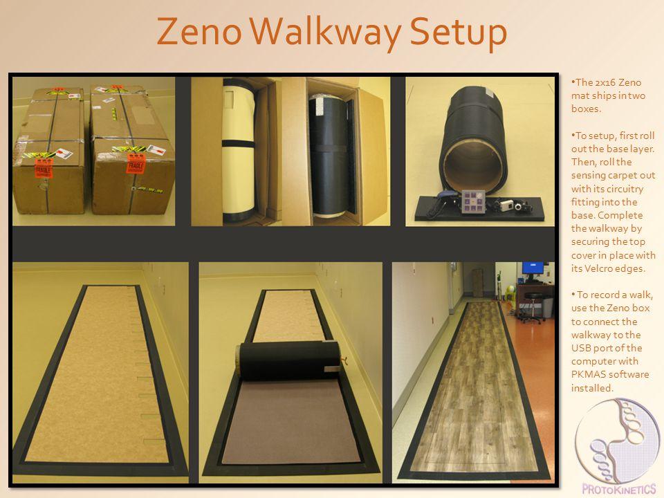 Zeno Walkway Setup The 2x16 Zeno mat ships in two boxes.