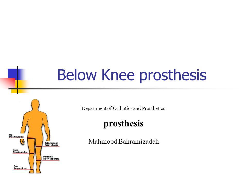 Department of Orthotics and Prosthetics