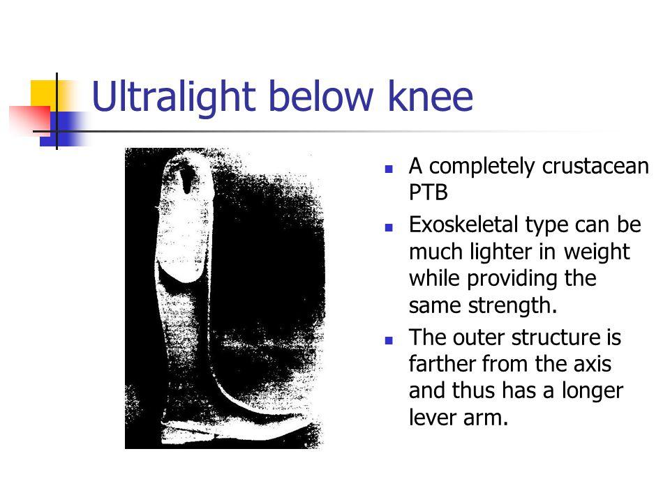 Ultralight below knee A completely crustacean PTB