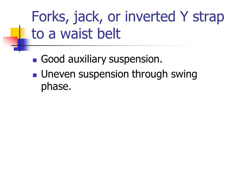 Forks, jack, or inverted Y strap to a waist belt