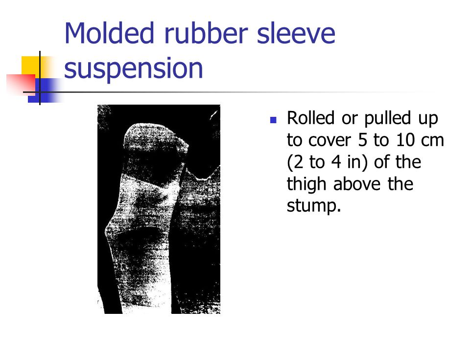 Molded rubber sleeve suspension