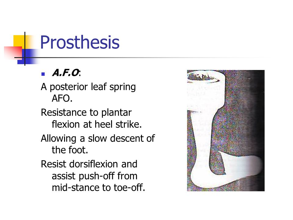 Department of Orthotics and Prosthetics