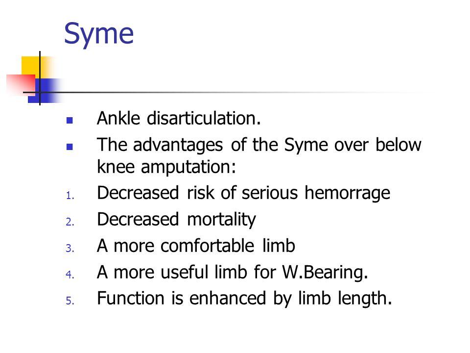Syme Ankle disarticulation.