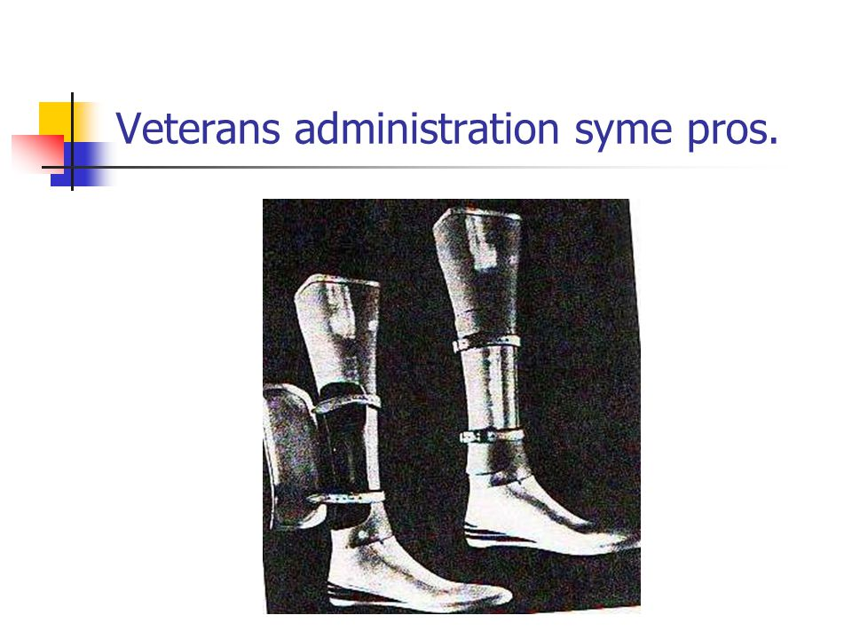 Veterans administration syme pros.