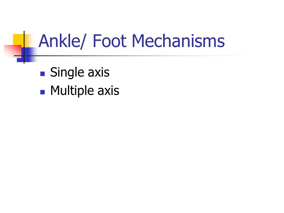 Ankle/ Foot Mechanisms