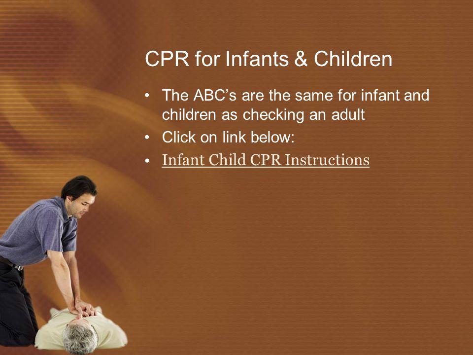 CPR for Infants & Children