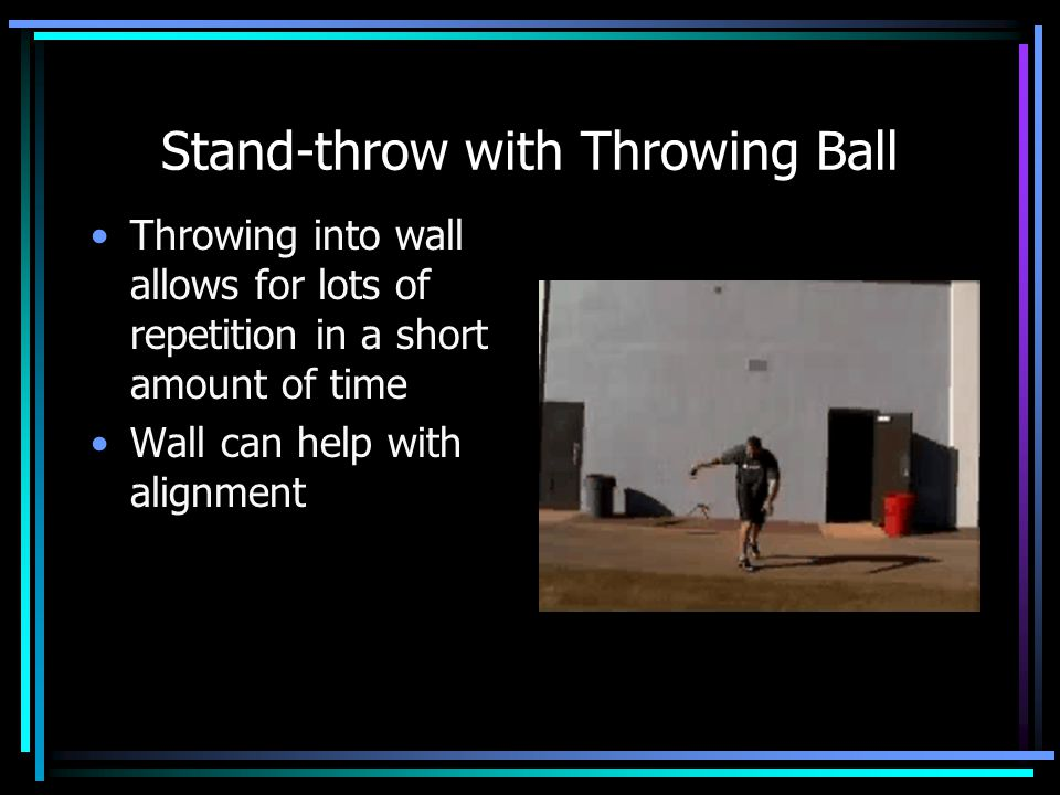 Stand-throw with Throwing Ball