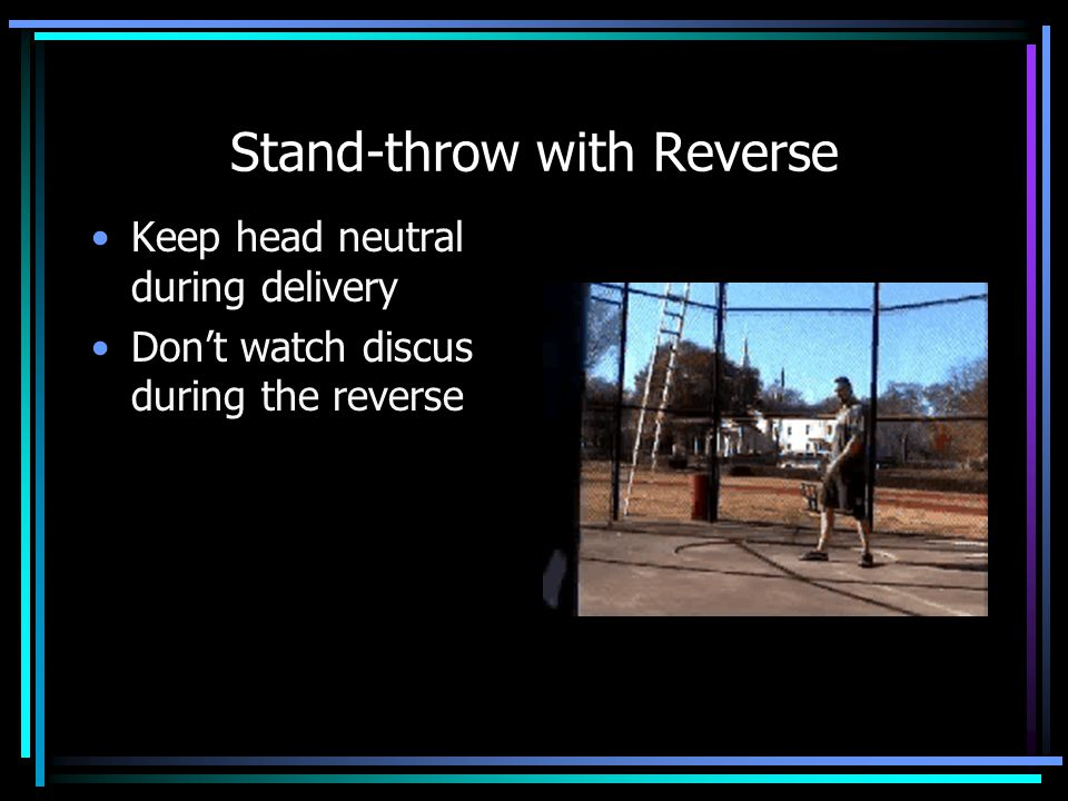 Stand-throw with Reverse