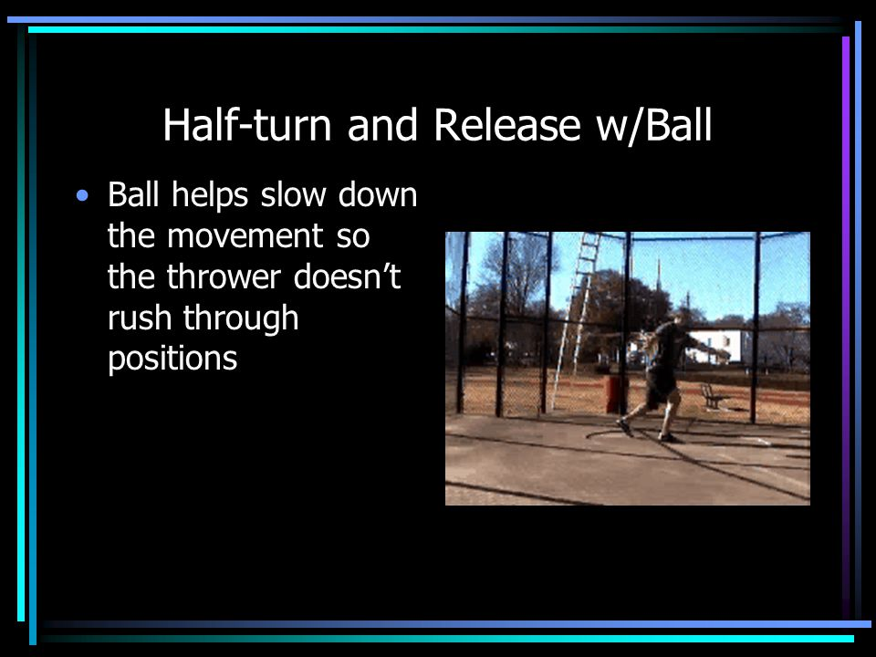 Half-turn and Release w/Ball