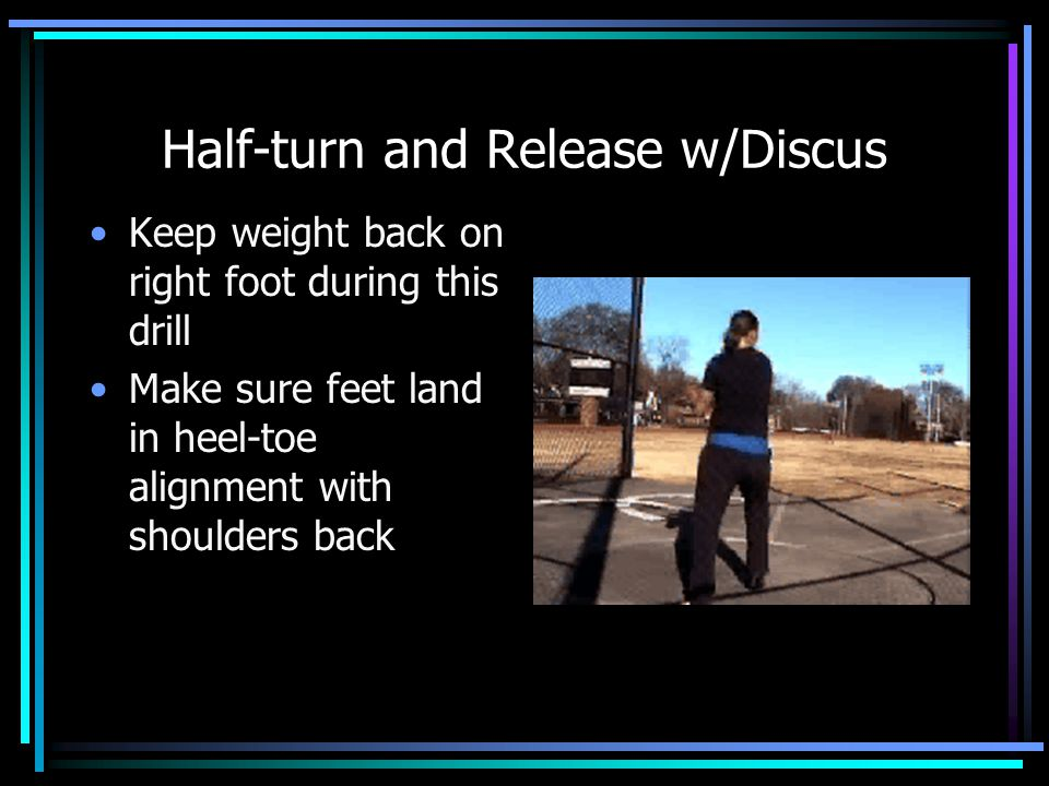 Half-turn and Release w/Discus