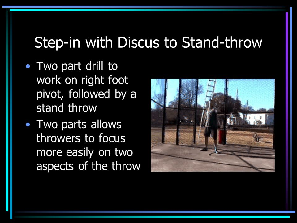 Step-in with Discus to Stand-throw
