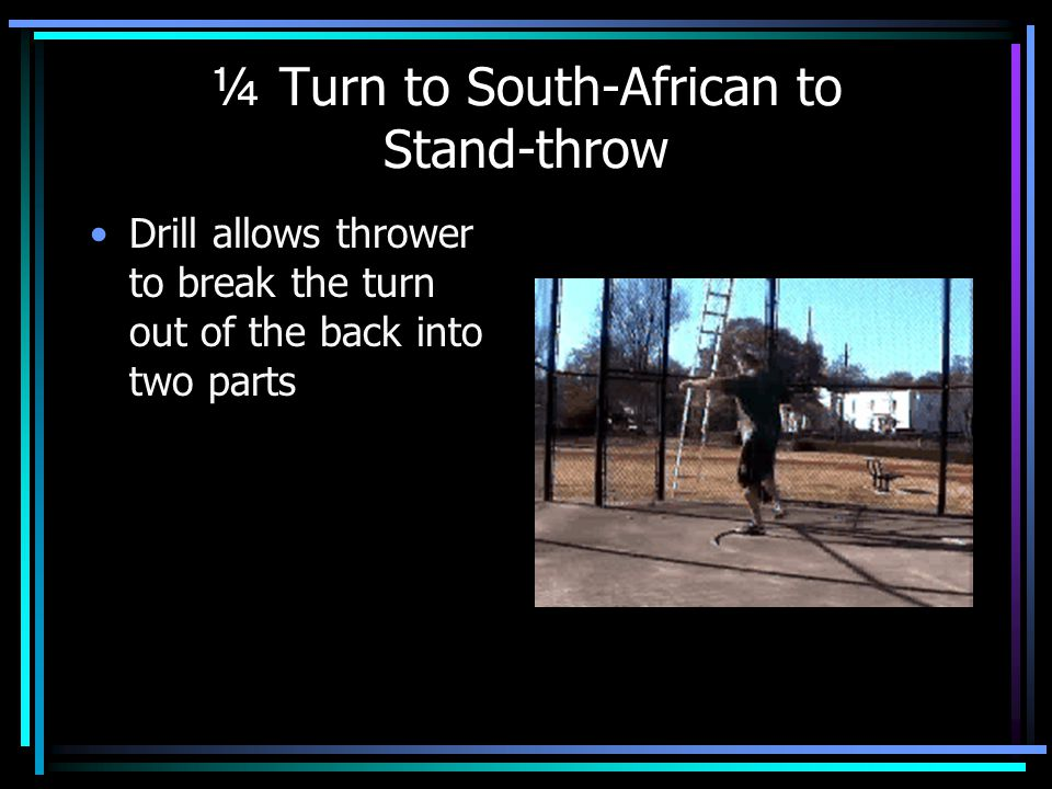 ¼ Turn to South-African to Stand-throw