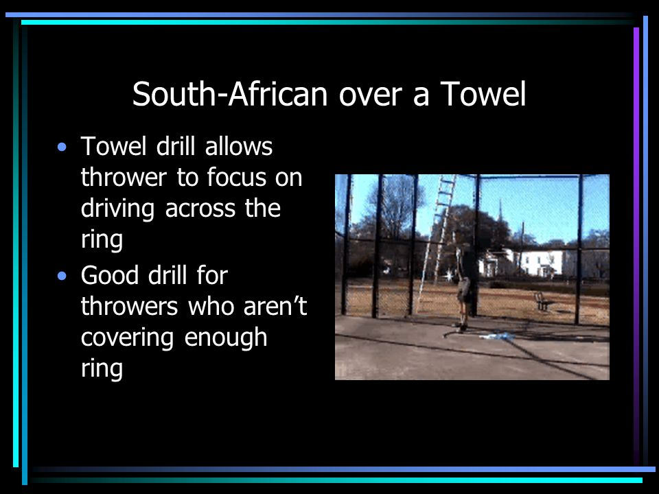 South-African over a Towel