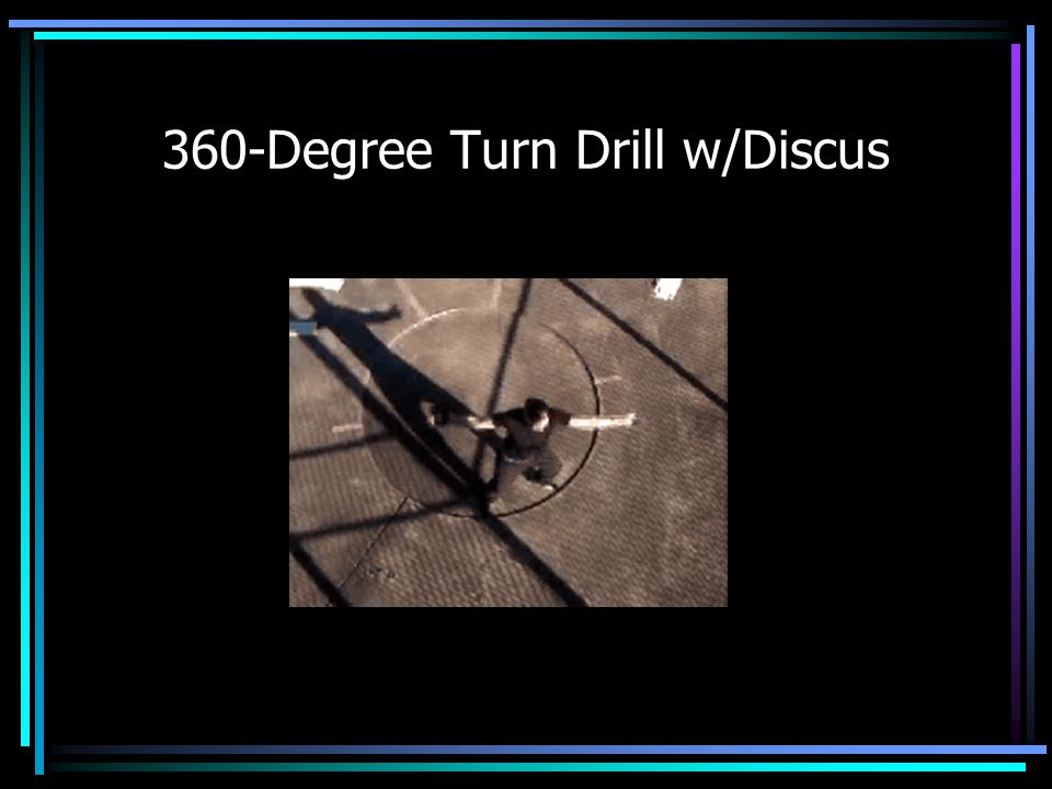 360-Degree Turn Drill w/Discus