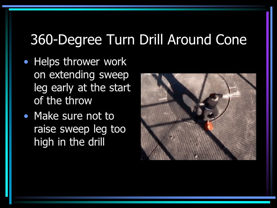 360-Degree Turn Drill Around Cone