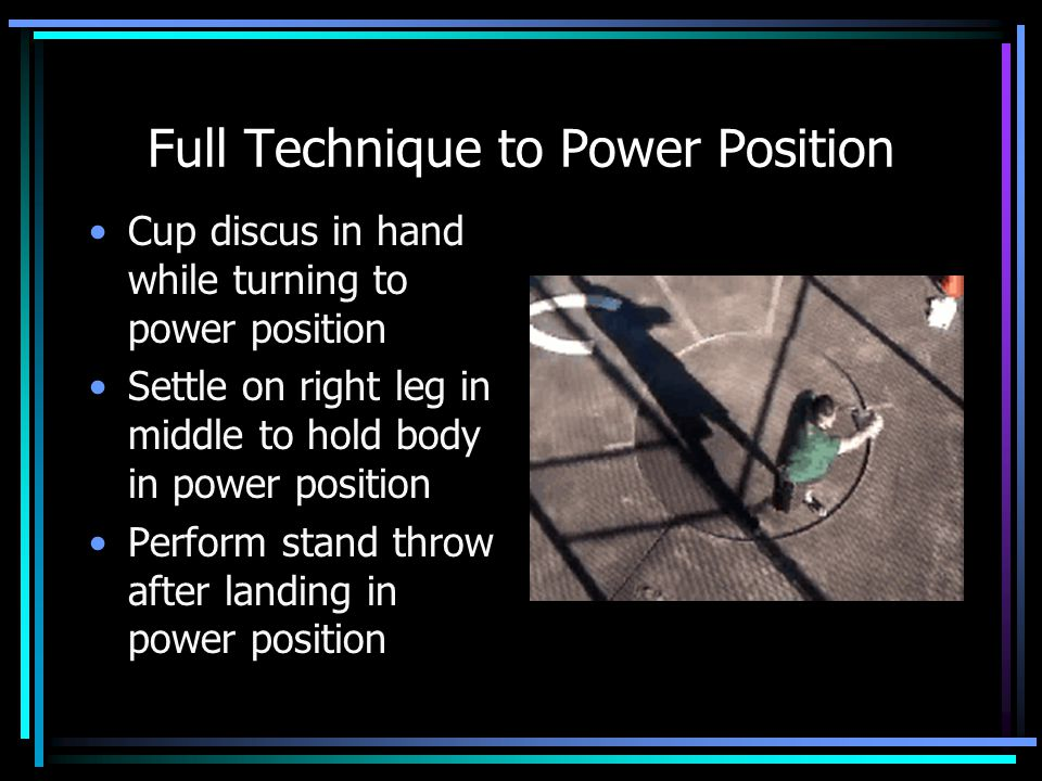 Full Technique to Power Position