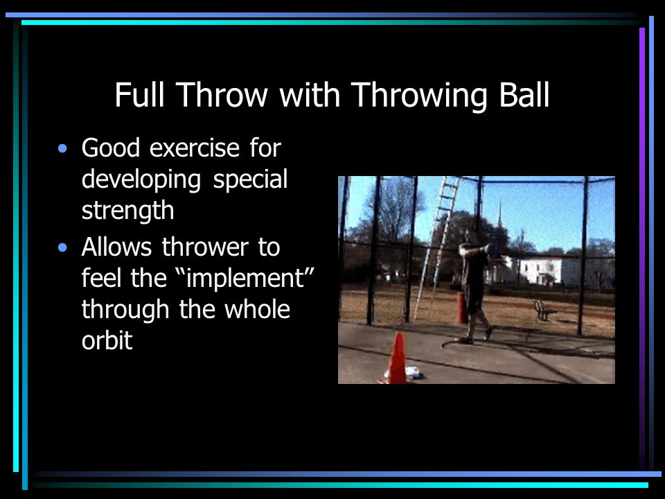 Full Throw with Throwing Ball