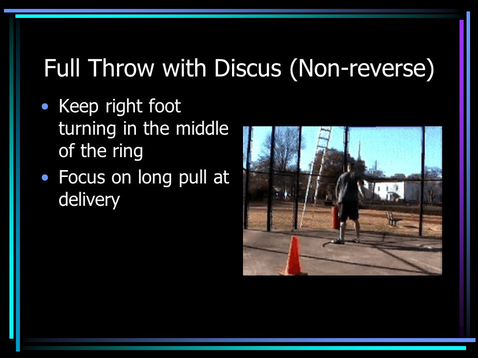 Full Throw with Discus (Non-reverse)