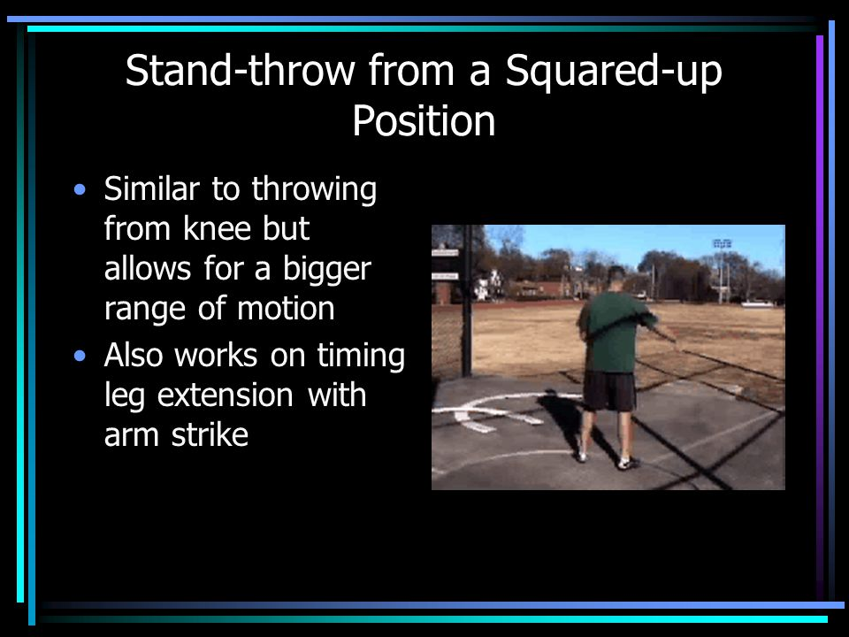 Stand-throw from a Squared-up Position