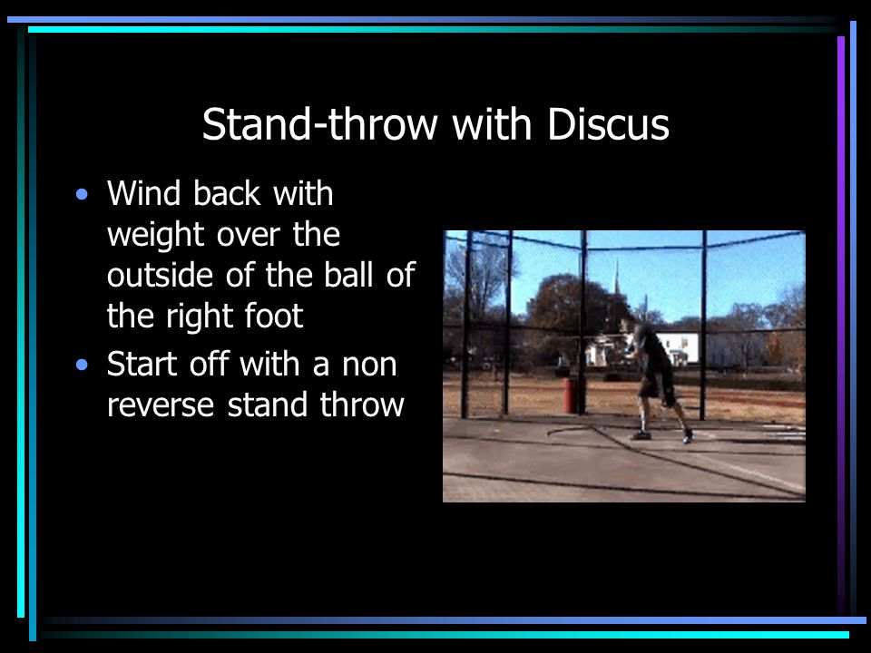 Stand-throw with Discus