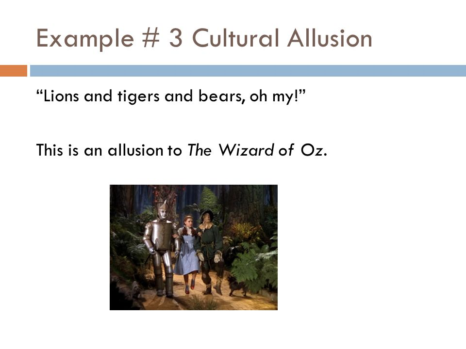an allusion to culture Allusions in pop culture by: emily pinkerton period 8 allusion from pop culture media to another piece of pop culture media during the song.