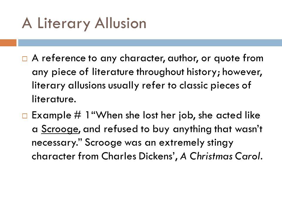 A Literary Allusion