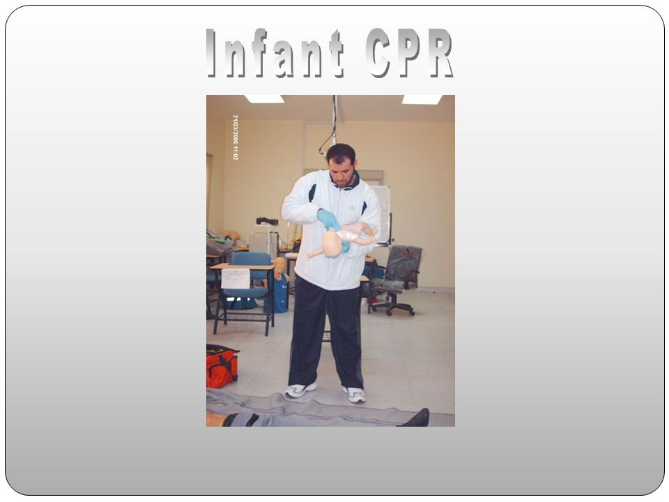 training department 4/14/2017 Infant CPR training department